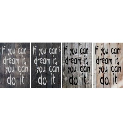 Skilt 109 - If you can dream it (4 stk) assorteret baggrund